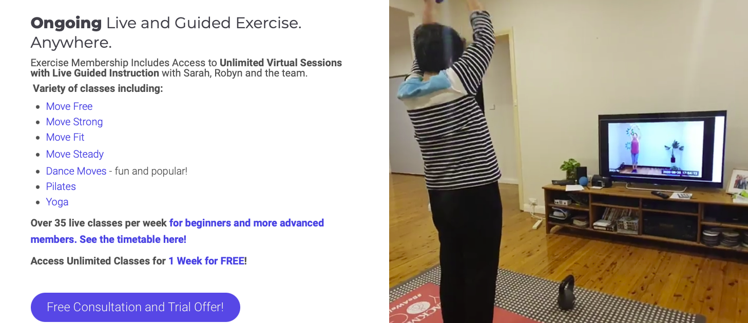 BJC Connect - exercise class